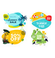 set summer sale labels and badges vector image vector image