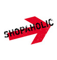 shopaholic rubber stamp vector image vector image