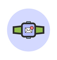 Smart watch icon vector image vector image