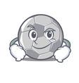 smirking football character cartoon style vector image vector image