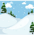 snow mountain outdoor landscape vector image