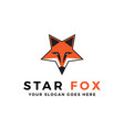 star fox logo inspirations internet technology vector image vector image