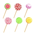 Sweets Lollipops Candies Realistic Icons Set vector image vector image