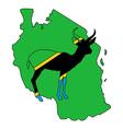 Tanzania antelope vector image vector image