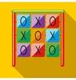 Tic tac toe game on a playground icon vector image vector image