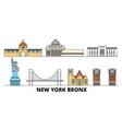 united states new york bronx flat landmarks vector image vector image