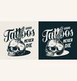 vintage tattoo salon monochrome label vector image vector image