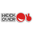 week over vector image