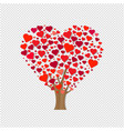 wooden with hearts transparent background vector image vector image
