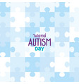 world autism day with puzzle pieces background