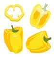 yellow bell pepper vegetables set