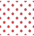 Ladybug pattern cartoon style vector image