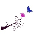 Butterfly perched on flower vector image