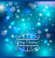 abstract blue winter background vector image vector image