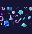 abstract colorful geometric 3d blocks holographic vector image vector image