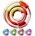 abstract hi-tech segmented geometric circle in 5 vector image