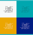 advanced future gen science technology eye icon vector image vector image