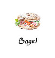 american bagel bakery flour product vector image