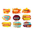 autumn discount new offer vector image vector image