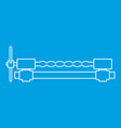 blacksmiths clamp icon outline vector image vector image