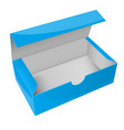 blue paper box open empty packaging vector image vector image