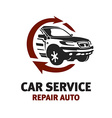 Car service logo template Automotive repair theme vector image vector image