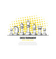 chess tournament banner template outline