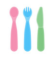 child utencils isolated on white vector image