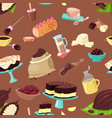 chocolate choco sweet food from cocoa or vector image vector image