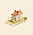 classic family house vector image vector image