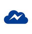 cloud data thunderbolt logo icon vector image vector image