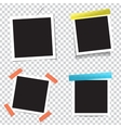 Collection of blank photo frames with vector image
