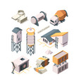 concrete production cement factory industry vector image vector image
