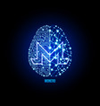 crypto currency monero on brain background vector image vector image