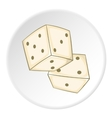 Dice icon outlinestyle vector image