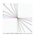 downward lines on the coordinate plane vector image vector image