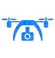 drone video camera grunge icon vector image vector image
