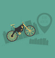 electric bike with black green and yellow color vector image