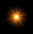 explosion of the golden star vector image vector image