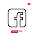 f letter icon vector image vector image