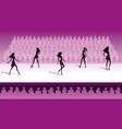 fashion models make catwalk show vector image vector image