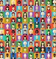 Flat Design Colorful Background Different People vector image vector image