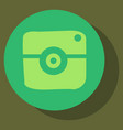 Flat web icon of modern lineart camera digital vector image
