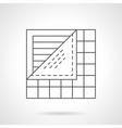 Floor covering flat line icon vector image