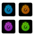 glowing neon time management icon isolated on vector image vector image