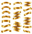 Golden Ribbon Big Set vector image