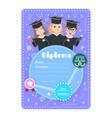 graduate kids diploma preschool kindergarten vector image