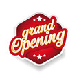 grand opening vintage sign red vector image