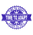 grunge textured time to adapt stamp seal with vector image