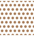 grungy beige polka dots on white background vector image